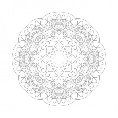 Mandala. Coloring book antistress. Template for mehendi. Oriental drawing. Vector illustration. Isolated on a white background. icon