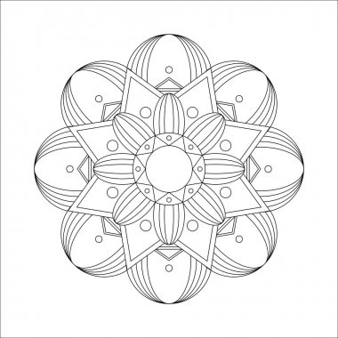 Mandala. Coloring book antistress. Vector illustration. Isolated on a white background. icon