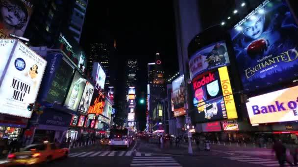 Časová prodleva Times Square v New Yorku