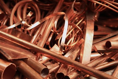Copper wire in different shapes