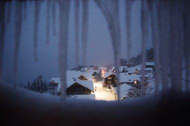 Winterly swiss village, Switzerland.