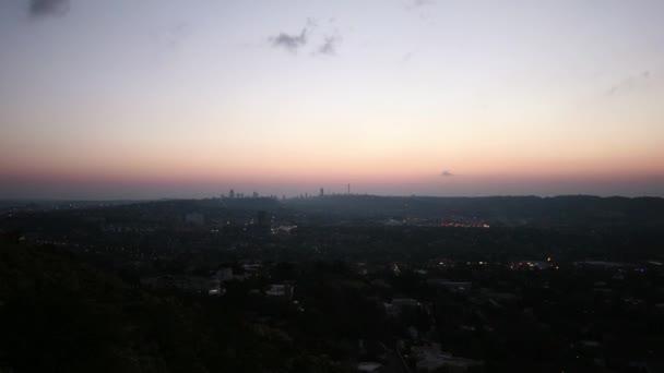 Johannesburg at night, Skyline, time lapse