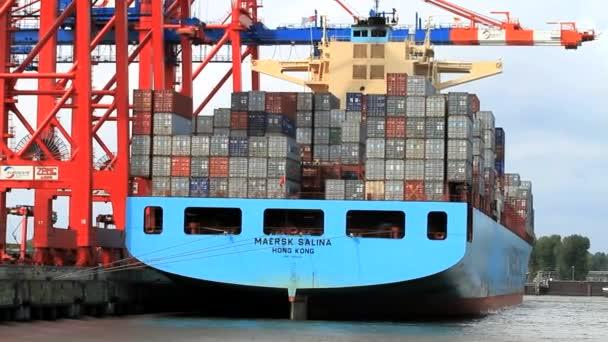 Containerschiff im Hamburger Hafen