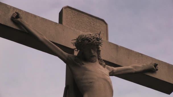 Keresztény kereszt Jézus Krisztus-szobor