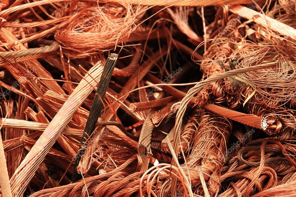 alambre de cobre materiales reciclables — Fotos de Stock ... on