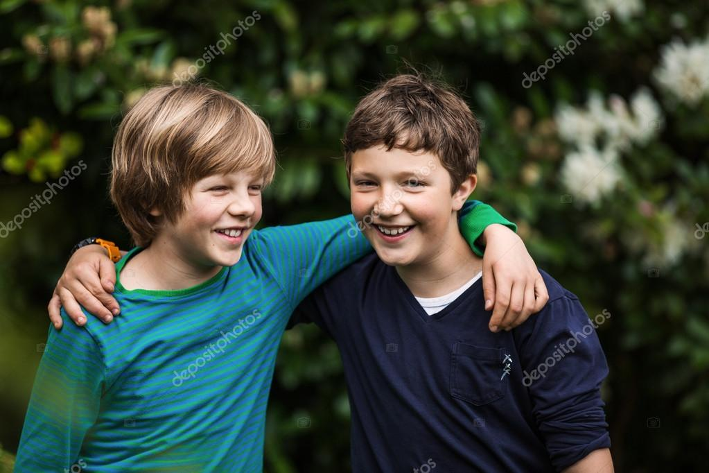 Two Boys Happy Best Friends Stock Photo Canopus
