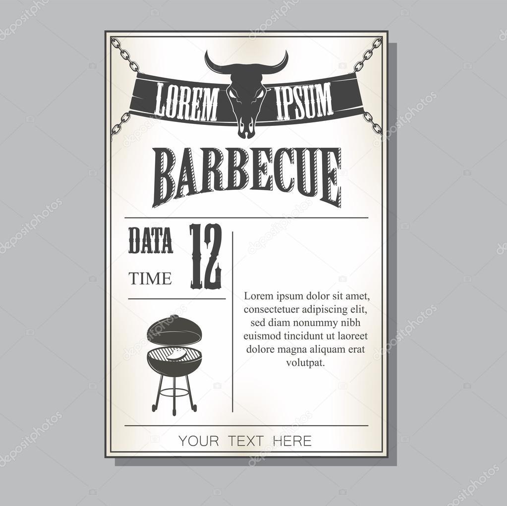 grill-einladung — stockvektor #103607778, Einladungen