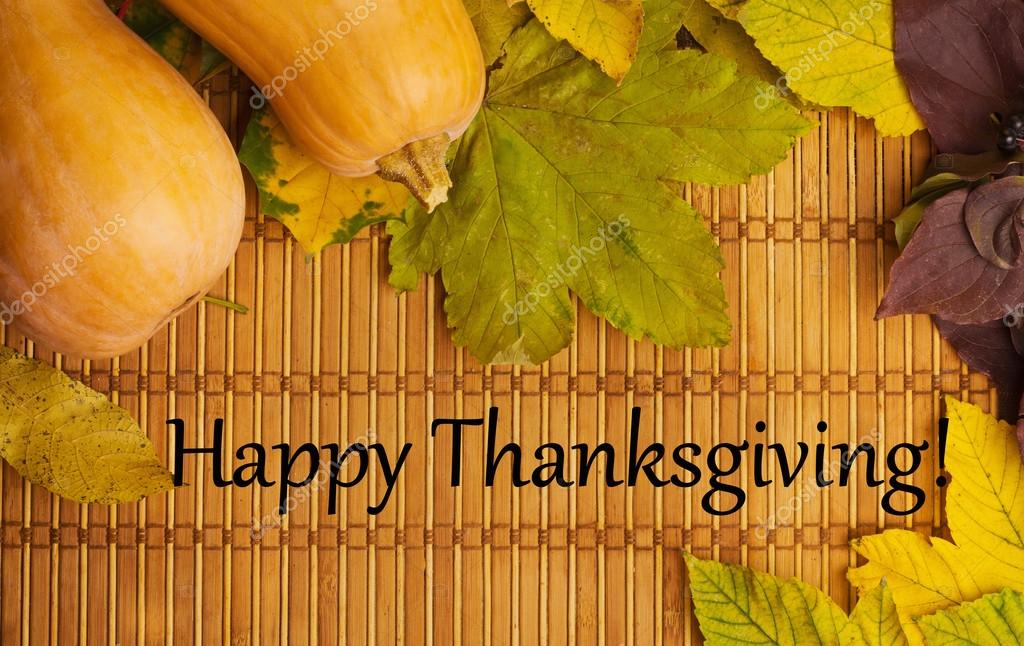 Words Happy Thanksgiving On Rustic Background Stock Photo
