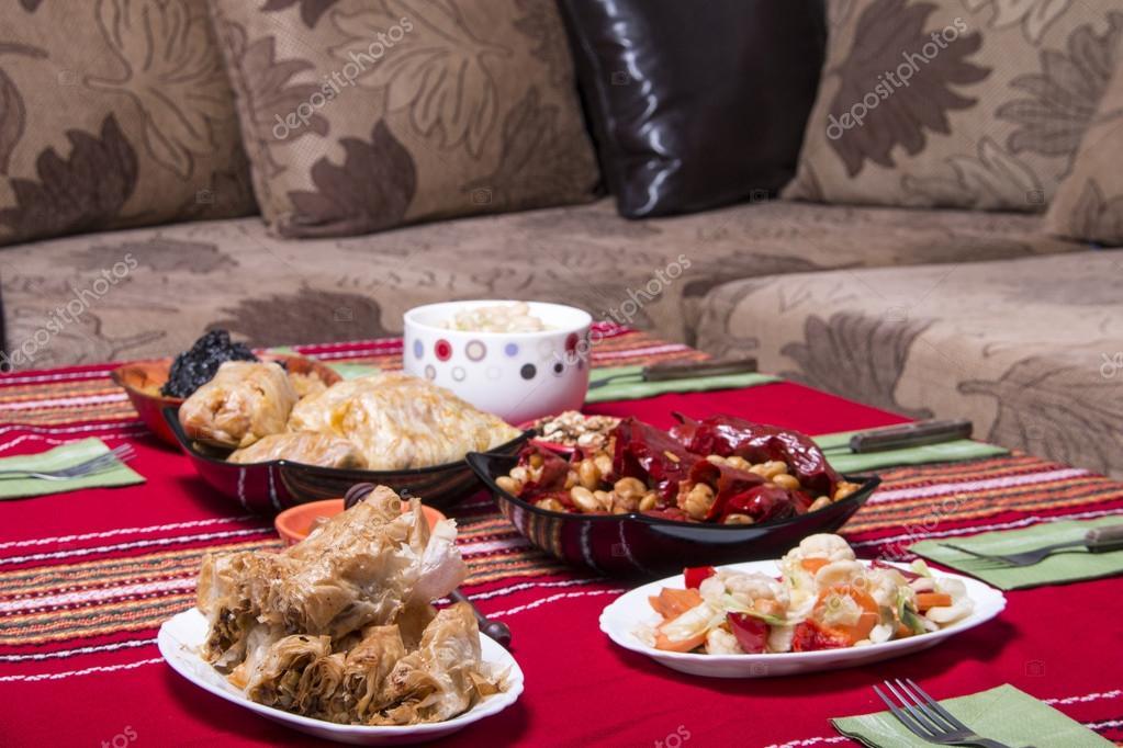 Traditional bulgarian christmas table setup \u2014 Stock Photo & Traditional bulgarian christmas table setup \u2014 Stock Photo ...