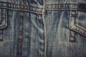 Detail kapesní džíny