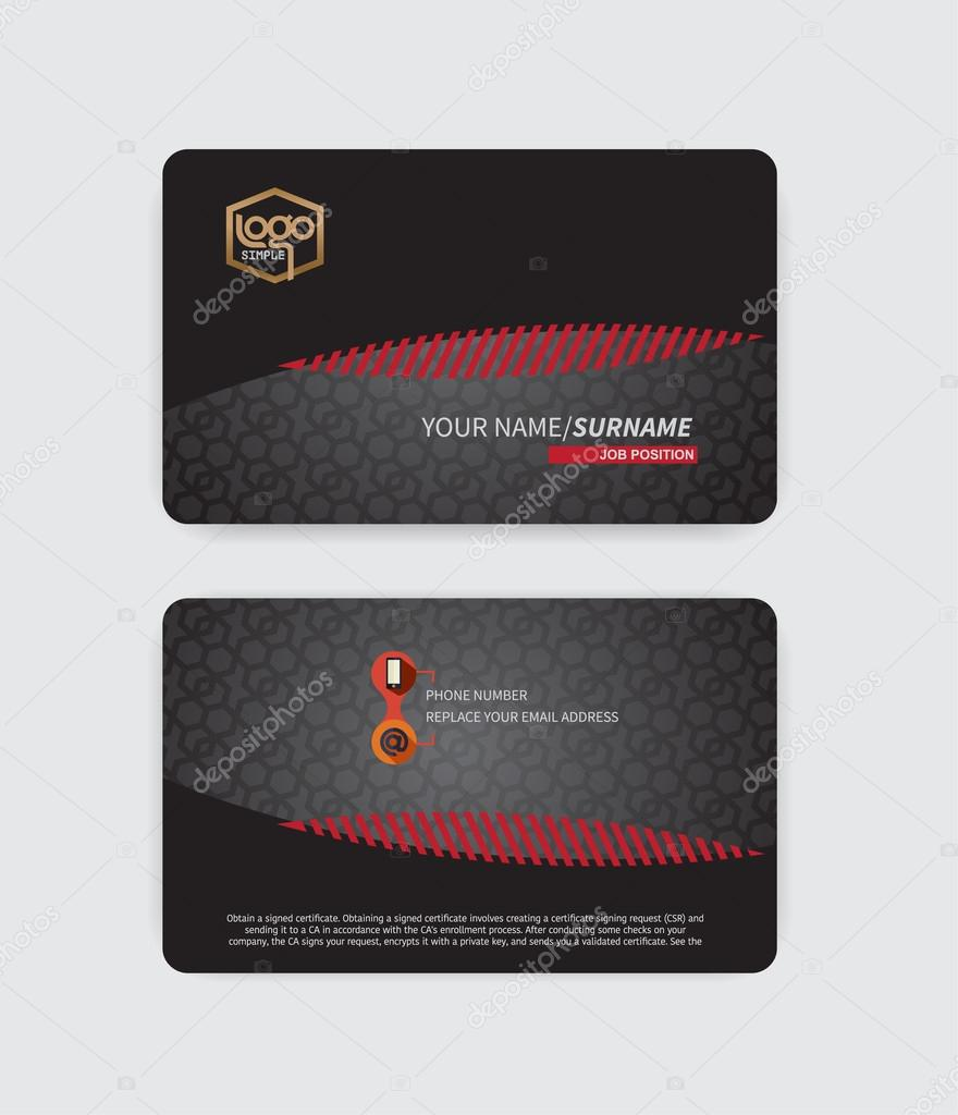 Modern Luxury Business Cards Suitable for modern business. — Stock ...