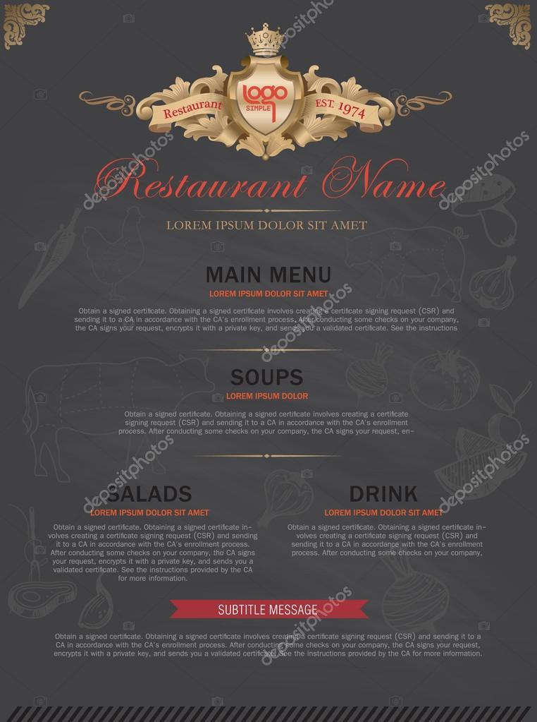 Menu template stock vector phaisarnwong 64069321 menu template vector by phaisarnwong yadclub Choice Image