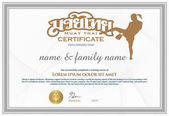 Photo Certificate to confirm Graduating from thai boxing (muay thai).