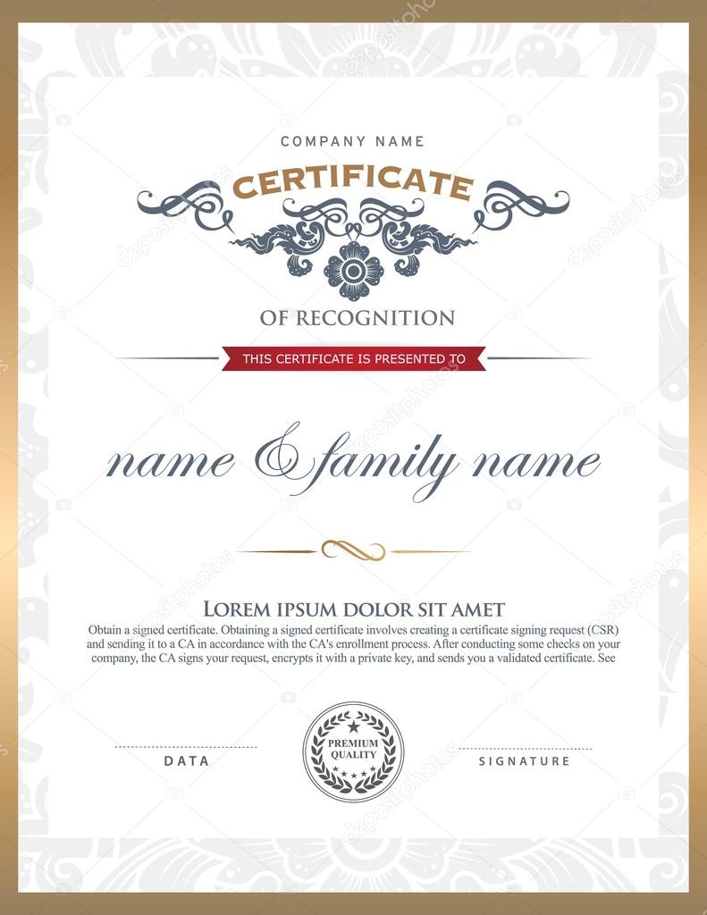 Zertifikatvorlage — Stockvektor © PhaisarnWong #65462141