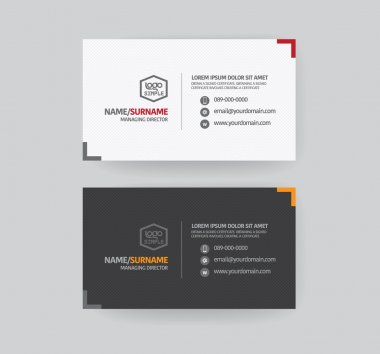 Modren business card template. clip art vector