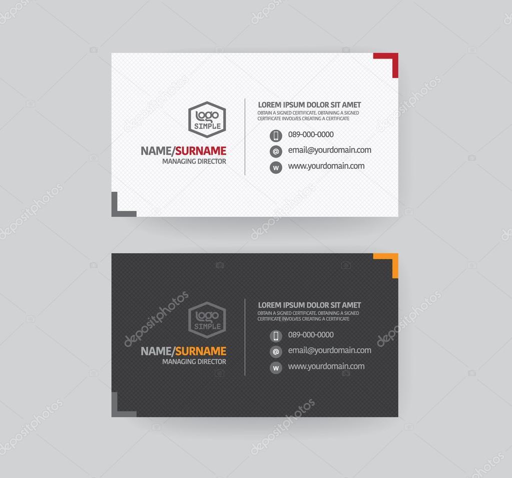 modren business card template — stock vector