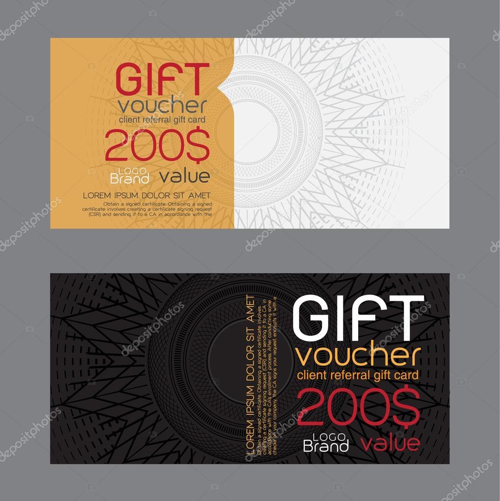 Geschenkgutscheinschablone — Stockvektor #68477097