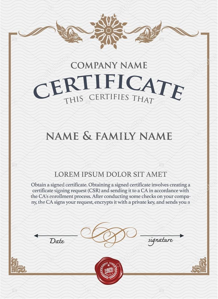 Vektor-Zertifikatvorlage — Stockvektor © PhaisarnWong #69724015