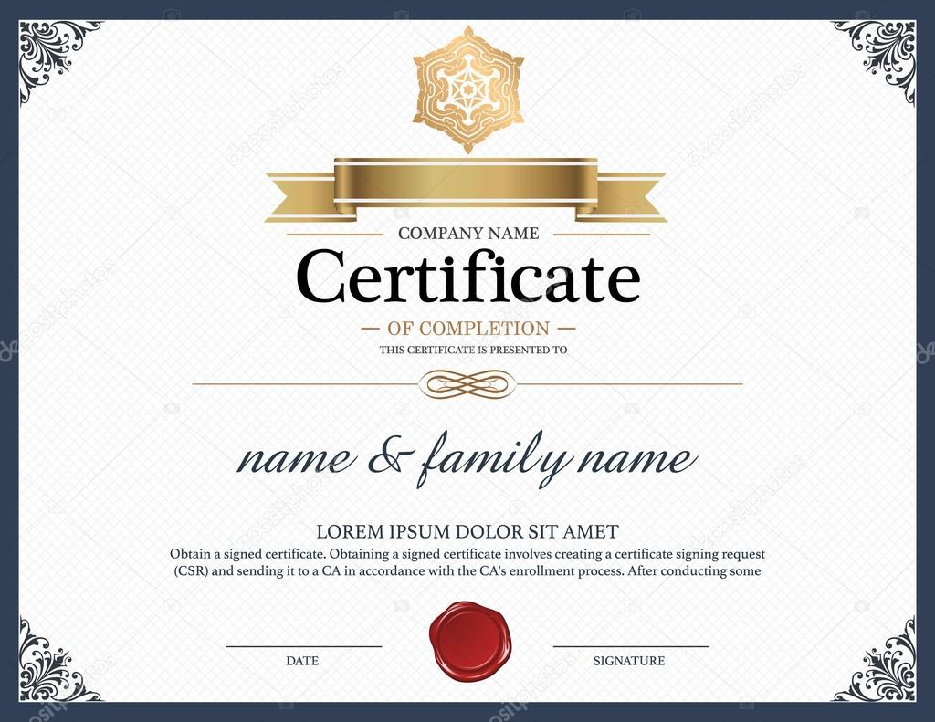 certificate design template vector by phaisarnwong