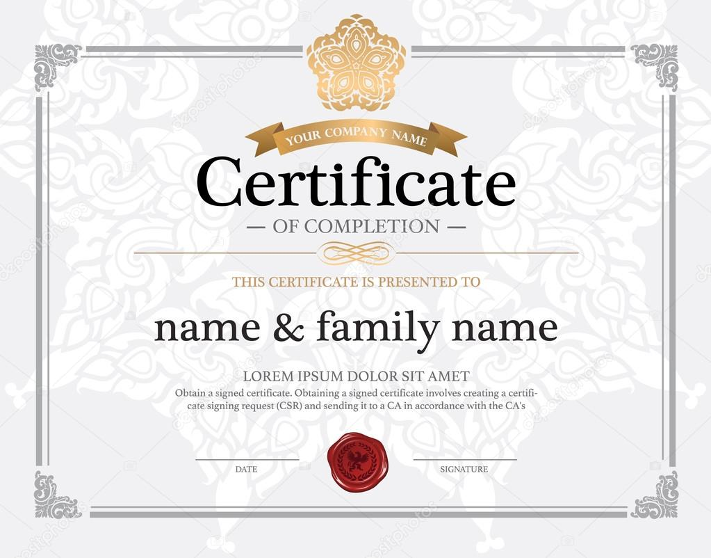 Certificate design template stock vector phaisarnwong 70104423 certificate design template vector by phaisarnwong yadclub Images