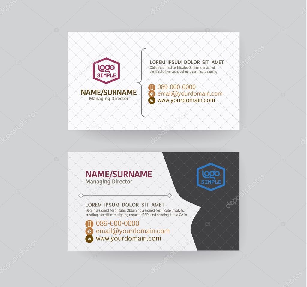 Modern Business Card Template Stock Vector PhaisarnWong - Modern business card template