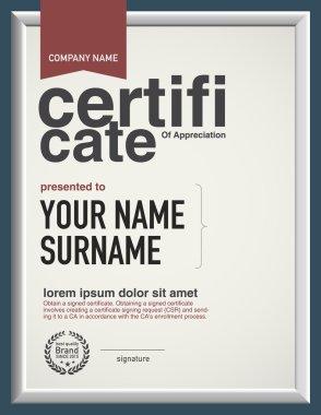 Modern layout vector certificate template.