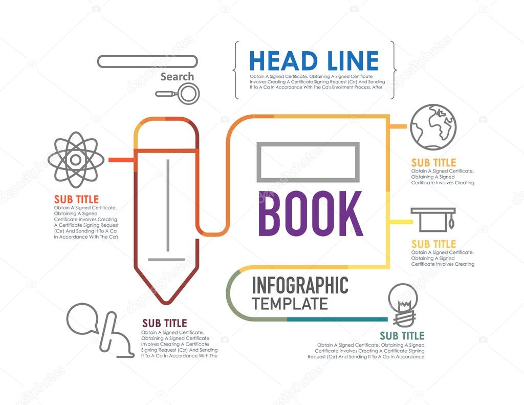 Flat linear infographic education template stock vector flat linear infographic education template stock vector yadclub Choice Image