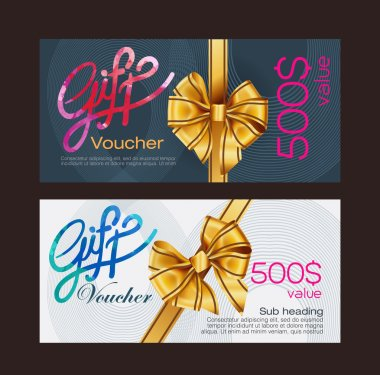 Voucher template with premium modern pattern. vector