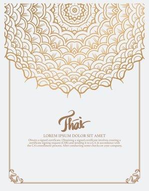 Thai art element for design.