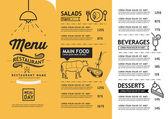 bederní a vintage umění restaurace menu šablony návrhu.