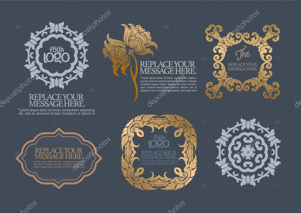 vector set: calligraphic design elements and page decoration - l