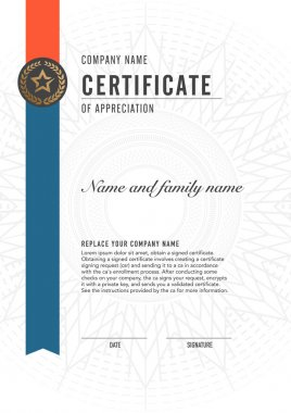 Premium vector design certificate. luxury, modern,