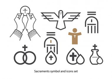 Sacraments icon set.