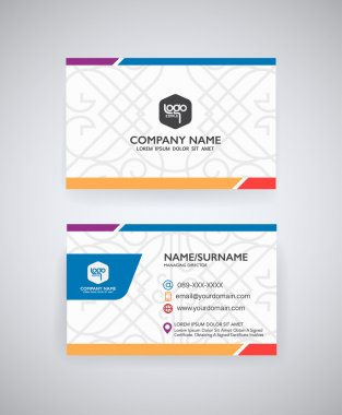 Vector modern creative  business card templat clip art vector