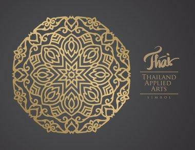 Thai art element for design, Traditional gold decor. Ornamental