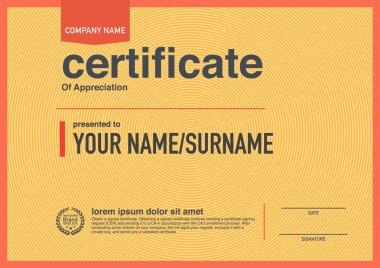 Modern design certificate.