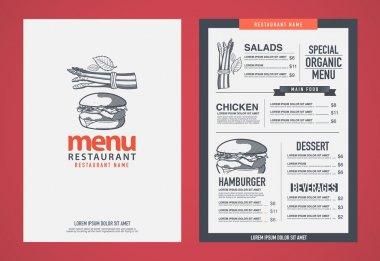 Hipster restaurant menu desig.