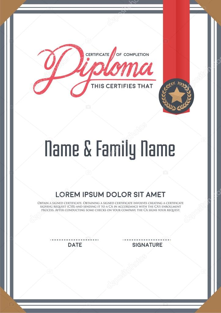 Diploma certificate template stock vector phaisarnwong 85176366 diploma certificate template vector by phaisarnwong yadclub Images