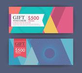 Gift certificate and gift voucher modern guilloche template.