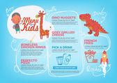 menu pro děti šablony