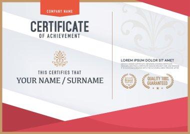 Vector certificate template.