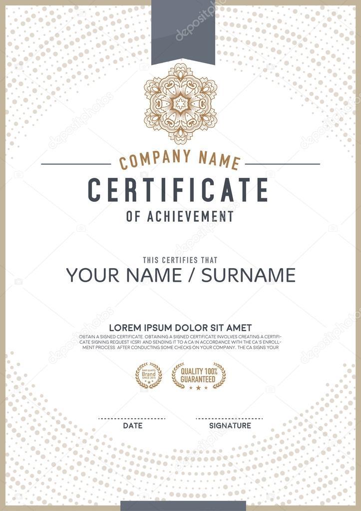 Vector Certificate Template Stock Vector Phaisarnwong 88929054