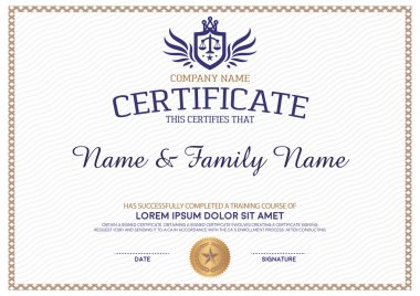 Certificate design templat