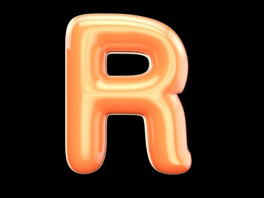 The English letter r.