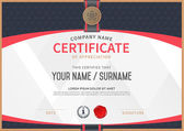 Photo Vector certificate template.