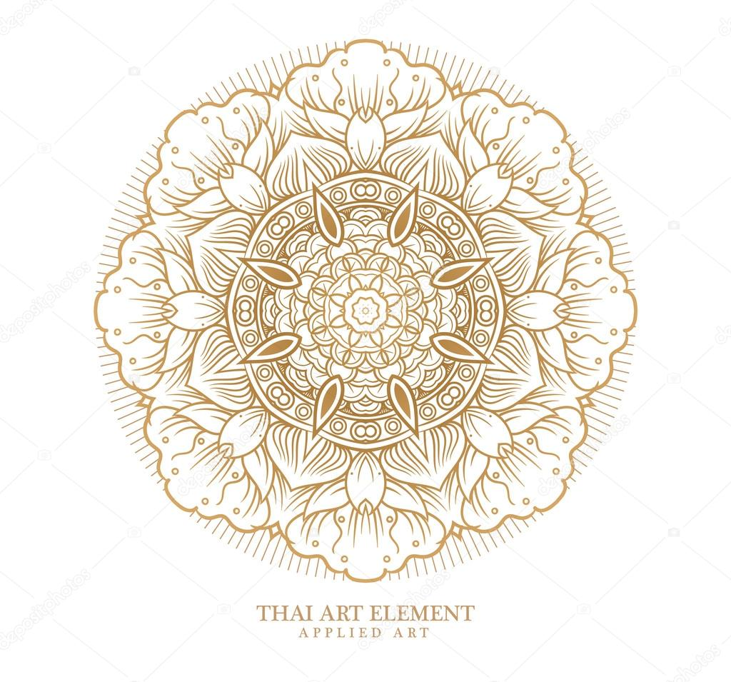 Thai art element for design,