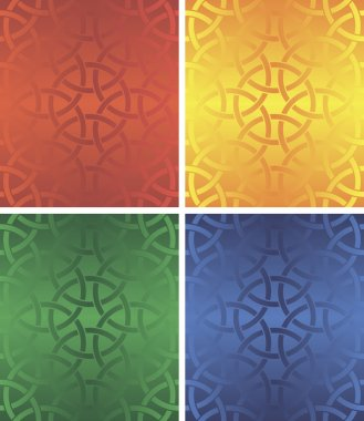 Seamless pattern four colour
