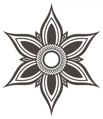 Flower icon siluet