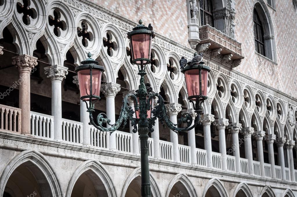 Beautiful ornate lampposts in Piazza San Marco — Stock Photo ...