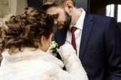 Fotografie bruneta ženich a nevěsta